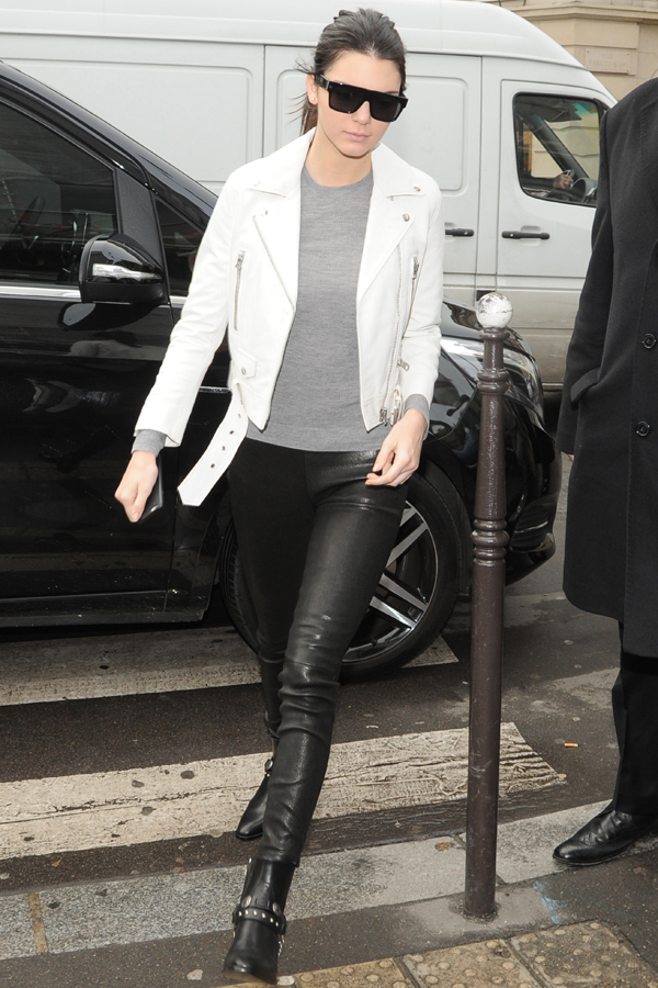 Kris Jenner visits Yves Saint Laurent and Givenchy before meeting daughter Kendall for lunch at a restaurant in Paris Featuring: Kendall Jenner Where: Paris, France When: 26 Jan 2015 Credit: WENN.com **Not available for publication in France**